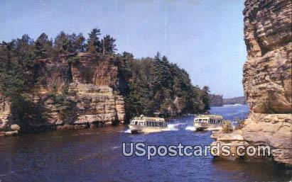 Jaws of the Dells - Upper Dells of the Wisconsin River Postcards, Wisconsin WI Postcard
