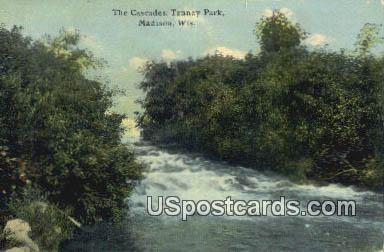 Cascades, Tenney Park - Madison, Wisconsin WI Postcard