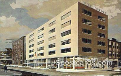 Hotel Conway - Appleton, Wisconsin WI Postcard
