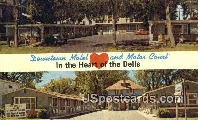 Downtown Motel & Motor Court - Wisconsin Dells Postcards, Wisconsin WI Postcard