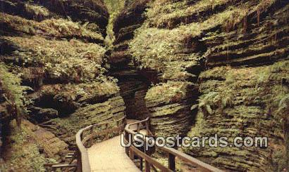 Moss Chamber in Cold Water Canyon - Wisconsin Dells Postcards, Wisconsin WI Postcard