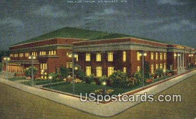 The Auditorium - MIlwaukee, Wisconsin WI Postcard