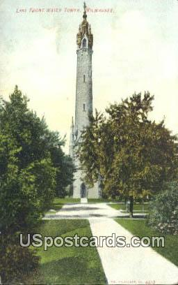 Lake Front Water Tower - MIlwaukee, Wisconsin WI Postcard