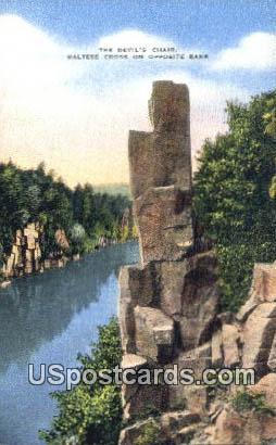 Devil's Chair - St. Croix Falls, Wisconsin WI Postcard