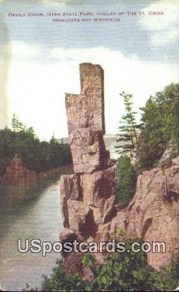 Devil's Chair - Dalles of the St Croix, Wisconsin WI Postcard