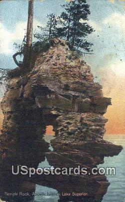 Temple Rock - Lake Superior, Wisconsin WI Postcard