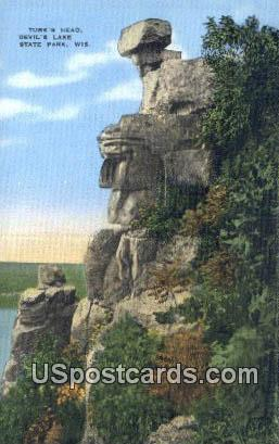 Turk's Head - Devil's Lake State Park, Wisconsin WI Postcard