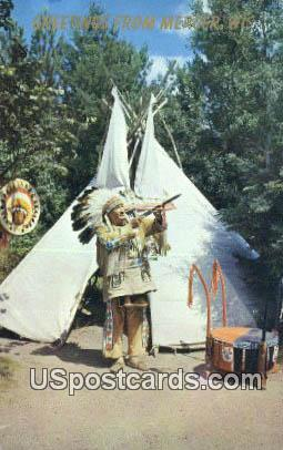 Indian Lore - Mercer, Wisconsin WI Postcard
