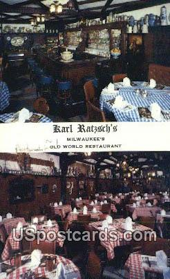 Karl Ratzsch's - MIlwaukee, Wisconsin WI Postcard