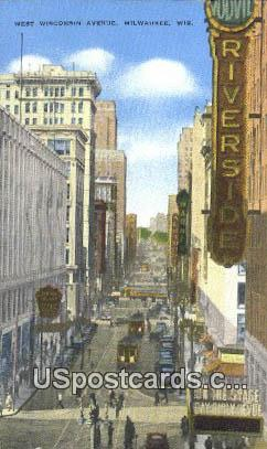 West Wisconsin Avenue - MIlwaukee Postcard
