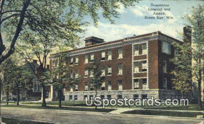 Deaconess Hospital & Annex - Green Bay, Wisconsin WI Postcard