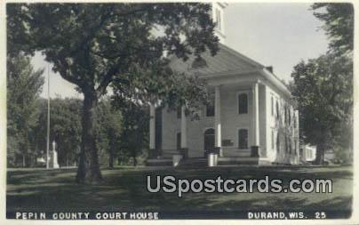 Pepin County Court House - Durand, Wisconsin WI Postcard