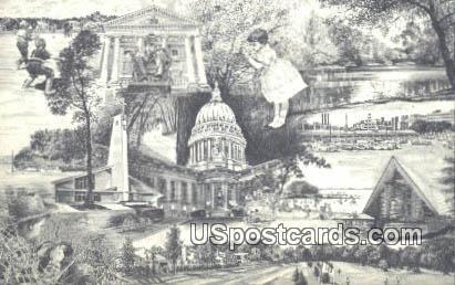Madison, Wis Postcard      ;      Madison, Wisconsin
