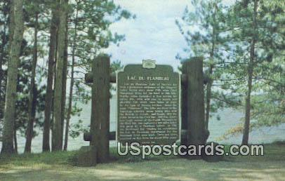 Historical Marker - Lac Du Flambeau, Wisconsin WI Postcard
