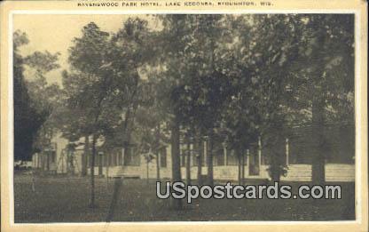 Ravenswood Park Hotel - Stoughton, Wisconsin WI Postcard