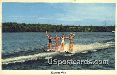 Summer Fun - Lake Washington, Wisconsin WI Postcard