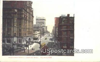 Wisconsin Street - MIlwaukee Postcard