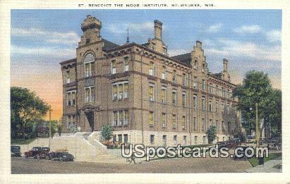 St Benedict the Moor Institute - MIlwaukee, Wisconsin WI Postcard