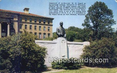 Monument to ex-Governor WD Hoard - Madison, Wisconsin WI Postcard