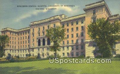 Wisconsin General Hospital U of Wisconsin - Madison Postcard