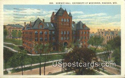 Science Hall, University of Wisconsin - Madison Postcard