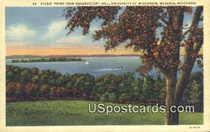 Picnic Point - Madison, Wisconsin WI Postcard