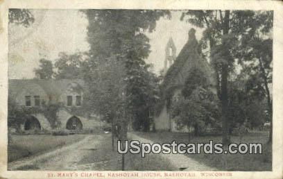 St Mary's Chapel - Nashotah, Wisconsin WI Postcard