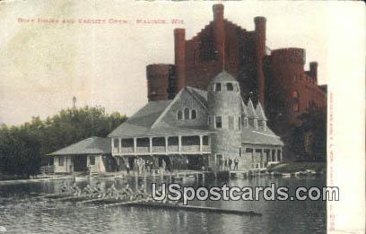 Boat House & Varsity Crew - Madison, Wisconsin WI Postcard