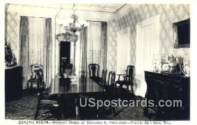 Historic Home of Hercules L Dousman - Prairie Du Chien, Wisconsin WI Postcard