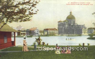 St Josephat's Church - MIlwaukee, Wisconsin WI Postcard