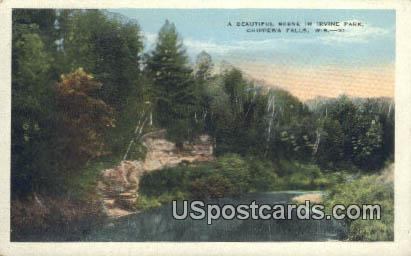 Irvine Park - Chippewa Falls, Wisconsin WI Postcard