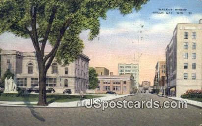Walnut Street - Green Bay, Wisconsin WI Postcard