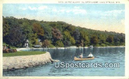 West Shore - Lake Geneva, Wisconsin WI Postcard