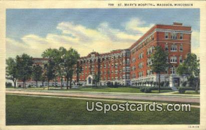 St Mary's Hospital - Madison, Wisconsin WI Postcard