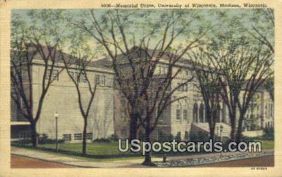 Memorial Union, University of Wisconsin - Madison Postcard