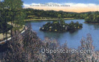 Oak Creek Parkway - Milwaukee County Park System, Wisconsin WI Postcard