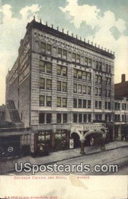 Davidson Theatre & Hotel - MIlwaukee, Wisconsin WI Postcard