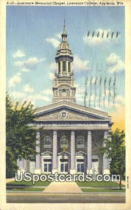 Lawrence Memorial Chapel - Appleton, Wisconsin WI Postcard