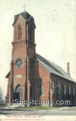 Trinity Church - Platteville, Wisconsin WI Postcard