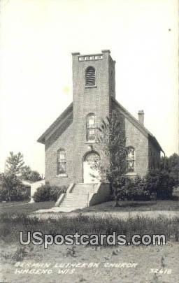 German Lutheran Church & Parsonage - Wabeno, Wisconsin WI Postcard