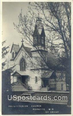 Presbyterian Church - Poynette, Wisconsin WI Postcard