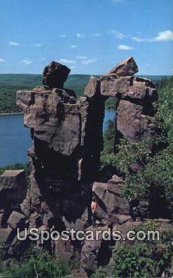 Devil's Gateway - Devil's Lake State Park, Wisconsin WI Postcard