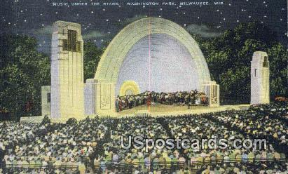 Music Under the Stars, Washington Park - MIlwaukee, Wisconsin WI Postcard
