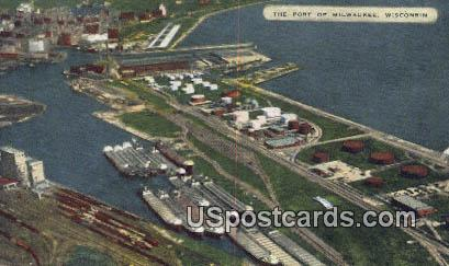 Port - MIlwaukee, Wisconsin WI Postcard