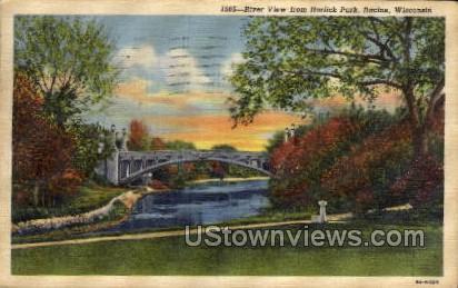 Horlick Park - Racine, Wisconsin WI Postcard