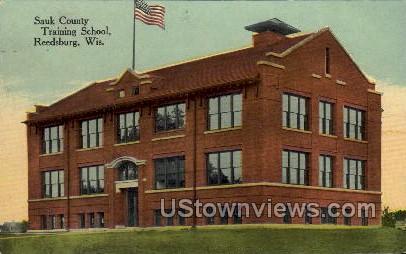Sauk County Training School - Reedsburg, Wisconsin WI Postcard