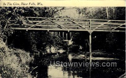 In The Glen - River Falls, Wisconsin WI Postcard