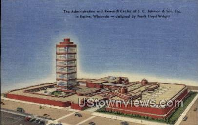 Administration & Research Center - Racine, Wisconsin WI Postcard