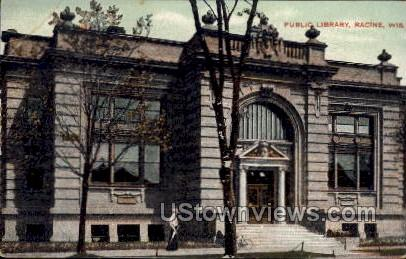 Public Library - Racine, Wisconsin WI Postcard