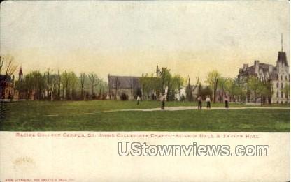 Racine College Campus - Wisconsin WI Postcard
